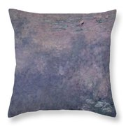 Waterlilies Two Weeping Willows Throw Pillow