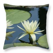 2 Waterlilys Rising Above The Water Throw Pillow