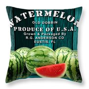 Watermelon Farm Throw Pillow