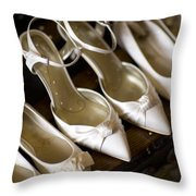 Wedding Shoes Throw Pillow