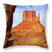 West Mitten Monument Valley Throw Pillow