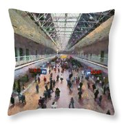 West Railway Station In Beijing Throw Pillow