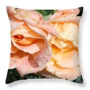 Wet Beauty Throw Pillow