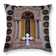 White Cross At St Sophia Throw Pillow