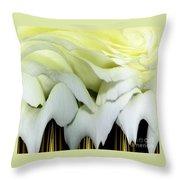 White Rose Polar Coordinates Throw Pillow