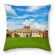 Wilanow Palace In Warsaw Poland Throw Pillow