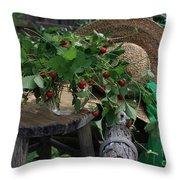 Wild Strawberries Throw Pillow