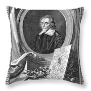 William Harvey (1578-1657) Throw Pillow