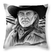 Willie Nelson American Legend Throw Pillow