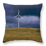Wind Turbine  Throw Pillow