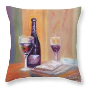 Wine And Blue Cheese Throw Pillow