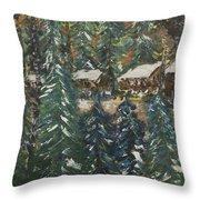 Winter Has Come To Door County. Throw Pillow