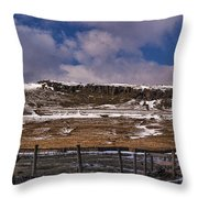 Winter In The Dales Throw Pillow