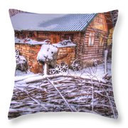 winter Russia Throw Pillow