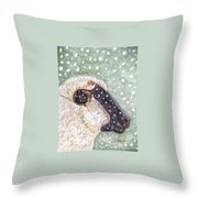 Wishing Ewe A White Christmas Throw Pillow