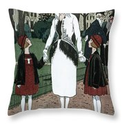 Women's Fashion, 1920 Throw Pillow