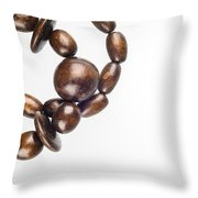 Wooden Beads Necklace Throw Pillow