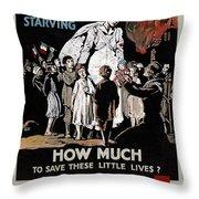 World War I: Red Cross Throw Pillow