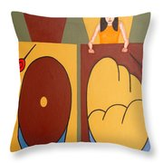 2 Worlds Throw Pillow by Patrick J Murphy