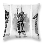 Wounded Knee, 1890 Throw Pillow
