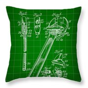 Wrench Patent 1915 - Green Throw Pillow