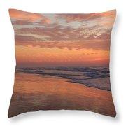 Wrightsville Beach At Sunrise Throw Pillow