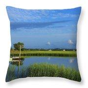 Wrightsville Beach Marsh Throw Pillow