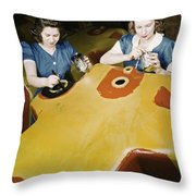 Wwii Workers, 1942 Throw Pillow
