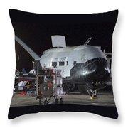 X-37b Orbital Test Vehicle, Post-landing Throw Pillow