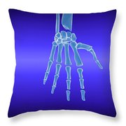 X-ray View Of Human Hand Throw Pillow