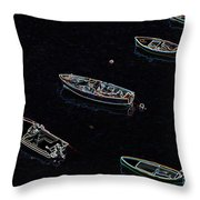 Yachts At Rest Sorrento Throw Pillow