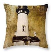 Yaquina Head Lighthouse - Oregon Throw Pillow