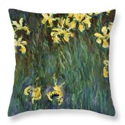Yellow Irises  Throw Pillow