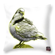 Yellow Pigeon Pop Art 5516 - Fs - Bb -  Modern Animal Artist Jam Throw Pillow