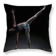 Yoga Half Moon Pose Throw Pillow