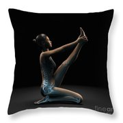 Yoga Heron Pose Throw Pillow