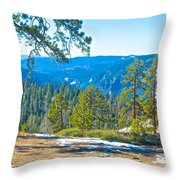 Yosemite Valley Mountainside From Sentinel Dome Trail In Yosemite Np-ca Throw Pillow