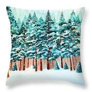 Yosemite Winter Throw Pillow