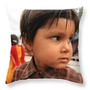 Young Boy Orchha  Throw Pillow