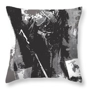 Youthful Female Soldier Armed  Unknown Mexico Location 1915-1920-2014 Throw Pillow