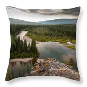 Yukon Canada Taiga Wilderness And Mcquesten River Throw Pillow