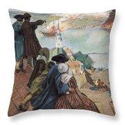 Battle Of Bunker Hill, 1775 Throw Pillow