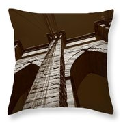 Brooklyn Bridge - New York City Throw Pillow