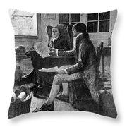 Declaration Of Independence Throw Pillow
