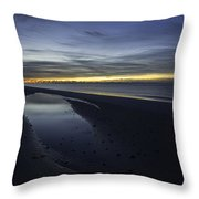 20 Degree Beach Sunrise Throw Pillow