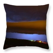 Nebraska Roll Cloud A Cometh Throw Pillow