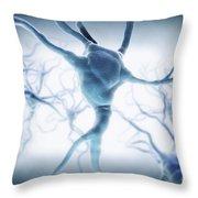 Neurons Throw Pillow