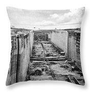 Panama Canal, C1910 Throw Pillow