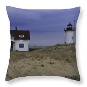 Race Point Light 1 Throw Pillow