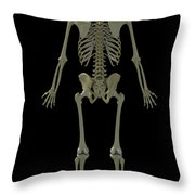 The Skeleton Throw Pillow